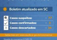 Governo do Estado confirma terceiro caso de coronavírus em Santa Catarina