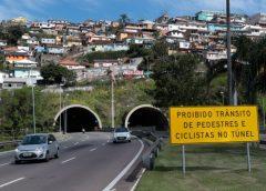 Túnel Antonieta de Barros terá interdição parcial das pistas à noite para serviços de manutenção