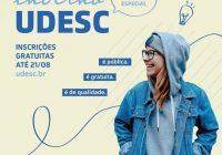 Udesc inicia inscrições gratuitas do processo seletivo especial do Vestibular de Inverno